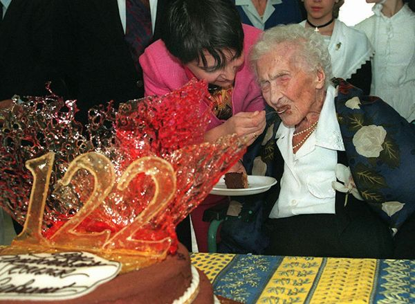 "The <a href=""http://www.guinnessworldrecords.com/records-5000/oldest-person/"" target=""_blank"">oldest person</a> ever recorded"