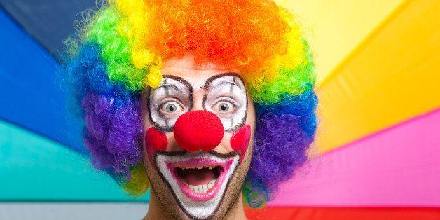 funny clown portrait