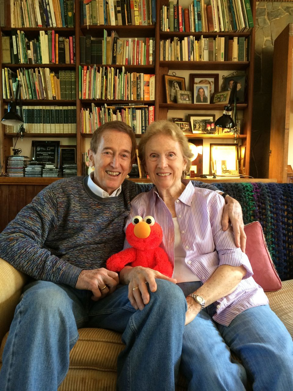 Bob and Ann McGrath at home.