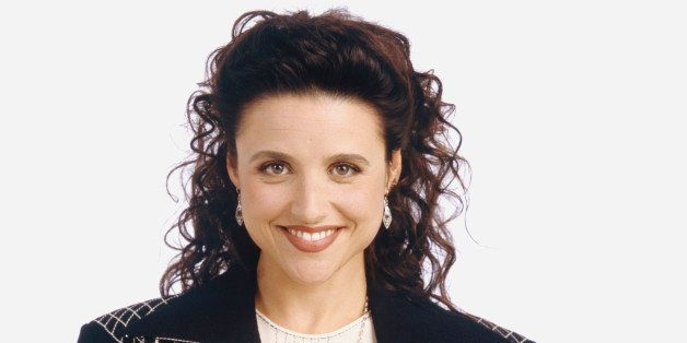 SEINFELD -- Season 5 -- Pictured: Julia Louis-Dreyfus as Elaine Benes  (Photo by George Lange/NBC/NBCU Photo Bank via Getty I