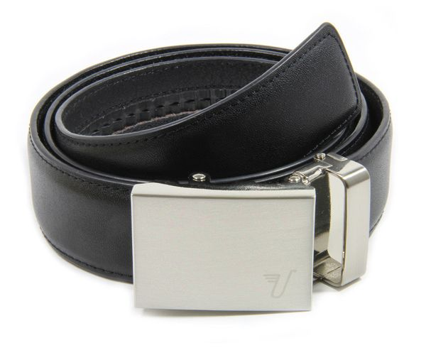 """Get this <a href=""""http://missionbelt.com/collections/belts/products/stainless-steel-black-brown-belt"""" target=""""_blank"""">Sleek N"""