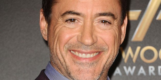 HOLLYWOOD, CA - NOVEMBER 14:  Actor Robert Downey Jr. poses in the press room at the 18th annual Hollywood Film Awards at Hol