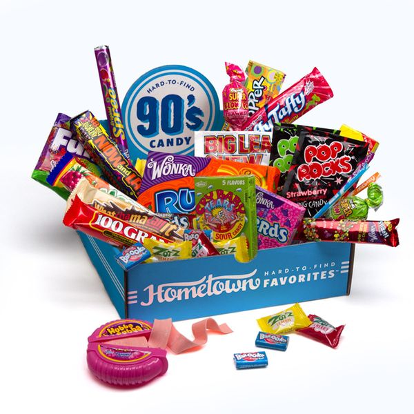 "Get a <a href=""http://www.hometownfavorites.com/category/unique-candy-gifts/"" target=""_blank"">Hometown Favorites Decades Cand"