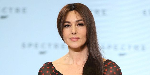 IVER HEATH, ENGLAND - DECEMBER 04:  Monica Bellucci attends a photocall for Bond 24 at Pinewood Studios on December 4, 2014 i