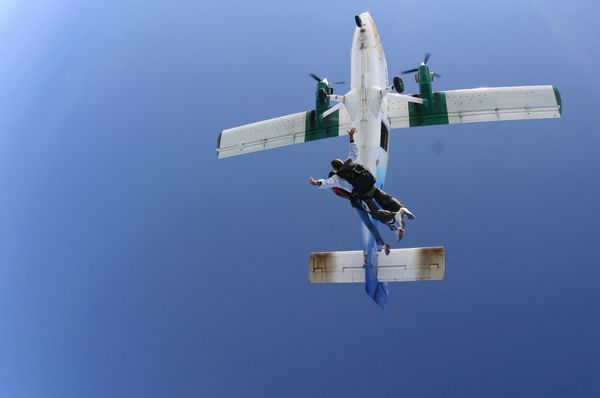 """I'm going to jump out of an airplane,"" said Don W. Powers."