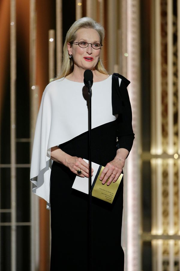 Oh, Queen Meryl. The 65-year-old actress has never been a trendsetter in fashion, instead opting for classic, simple designs