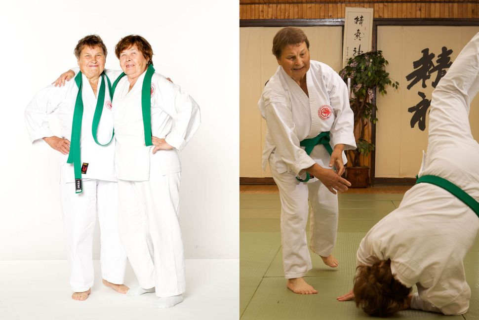Nina Melnikova, 79 and Antonina Kulikova, 79, (Novosibirsk, Russia) picked up aikido at the age of 70. They now train at leas