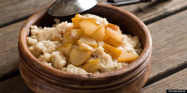 oat porridge with caramelized...