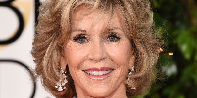 Jane Fonda arrives at the 72nd annual Golden Globe Awards at the Beverly Hilton Hotel on Sunday, Jan. 11, 2015, in Beverly Hi