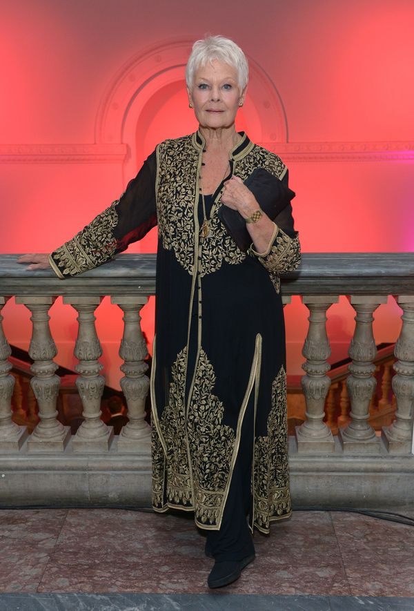 """Working her inner goddess in a gorgeous black-and-gold caftan at the gala screening of """"Philomena."""""""