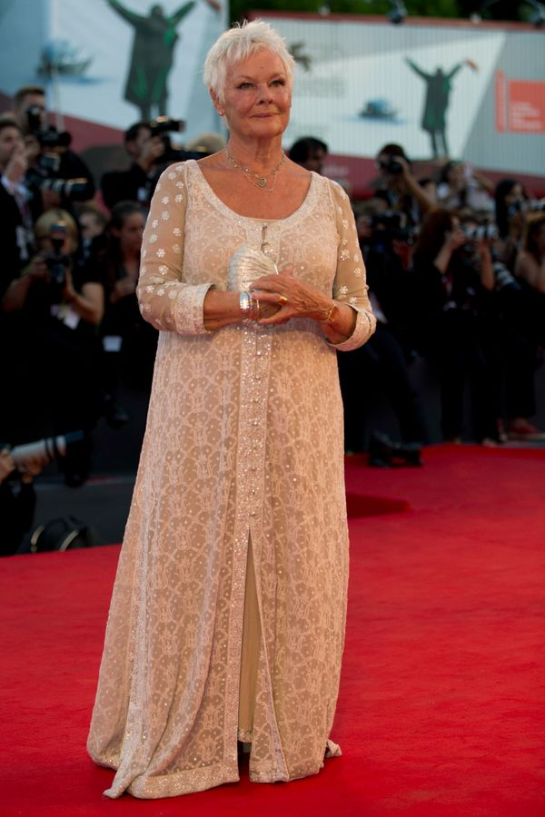 Another gorgeous cream caftan at the Venice Film Festival.