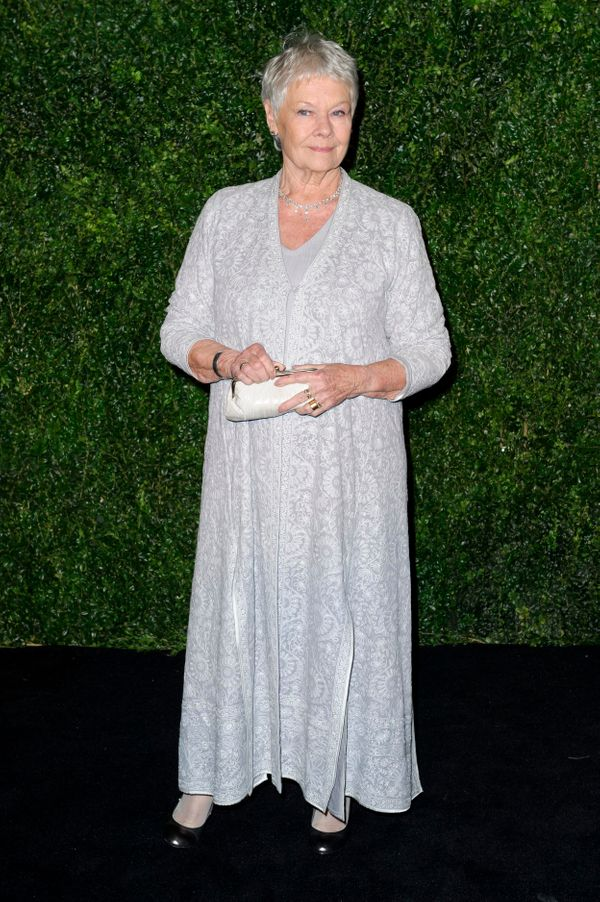At the 58th London Evening Standard Theatre Awards, the Dame stood out in a glorious off-white caftan.