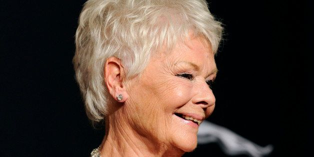 Judi Dench arrives at the BAFTA Los Angeles Britannia Awards at the Beverly Hilton Hotel on Thursday, Oct. 30, 2014, in Bever