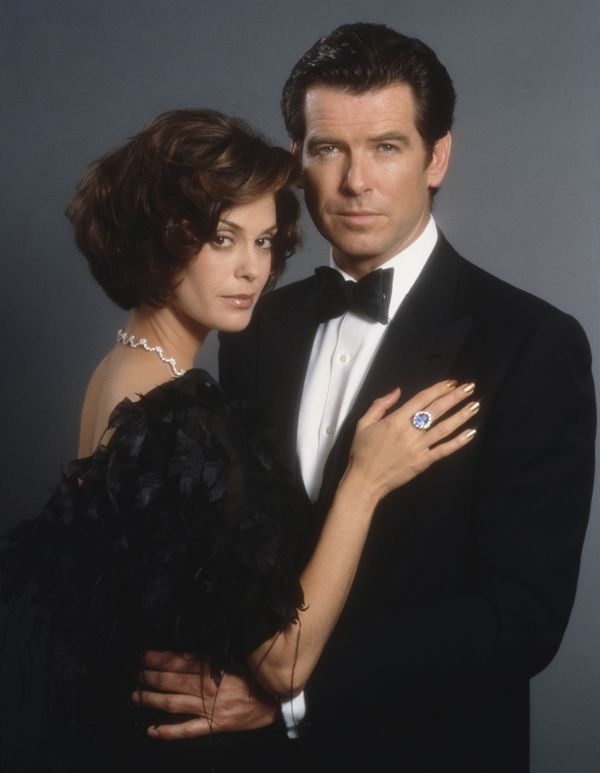 James Bond doesn't wait for anyone -- so the man playing him, Pierce Brosnan, wasn't pleased with co-star Teri Hatcher on set