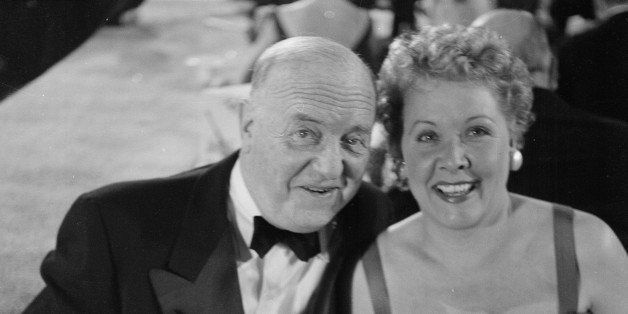 LOS ANGELES,CA - MARCH 7,1955: Actress  Vivian Vance poses with co star William Frawley during the Emmy Awards in Los Angeles