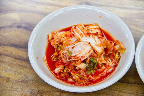 Considered a staple in any Korean kitchen, kimchi is a spicy mix of fermented vegetables that includes cabbage as its main in