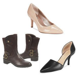 Choose: Skin-tone nude pumps/ Pointy-toed shoes/ Ankle boots with high shaft<br> Cankles will be in full view with any shoe t