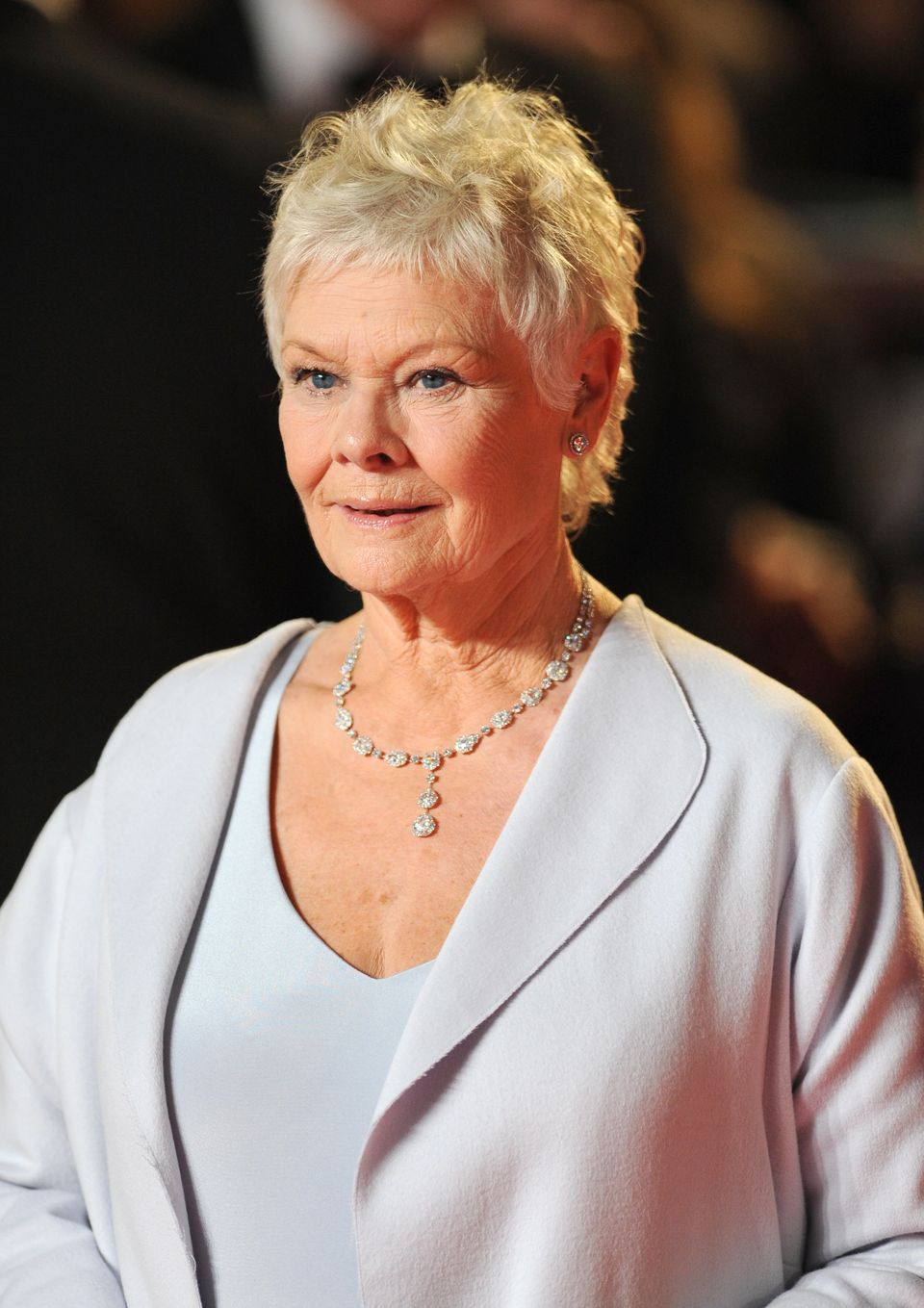 Dame Judi Dench arrives at the Royal World premiere of Skyfall at the Royal Albert Hall, London.