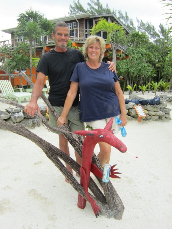 Judy and Dwayne Allen moved from Tampa, Florida to Ambergris Caye, Belize over 10 years ago. Finding a new talent as an artis