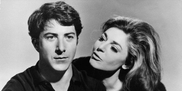 Dustin Hoffman and Anne Bancroft publicity portrait for the film 'The Graduate', 1967. (Photo by Embassy Pictures/Getty Image
