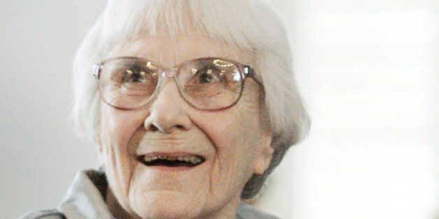 FILE - In this Aug. 20, 2007, file photo, author Harper Lee smiles during a ceremony honoring the four new members of the Ala