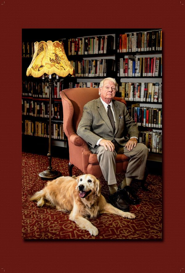 "Inspired by ""Downton Abbey's"" Lord Grantham, Don Stedman poses for this iconic photo with ""Lady"" by his side."