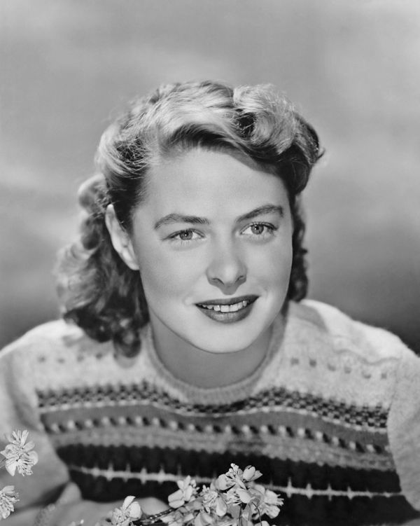 Unlike many of her counterparts, the lovely Ingrid Bergman was known more for her natural beauty than for being a made-up bom
