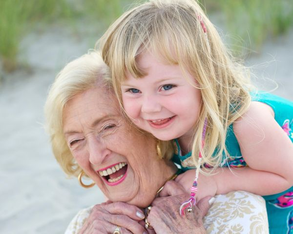 Marge Von Bargen, 90, and her great-granddaughter, Hanna Henderson, 3.