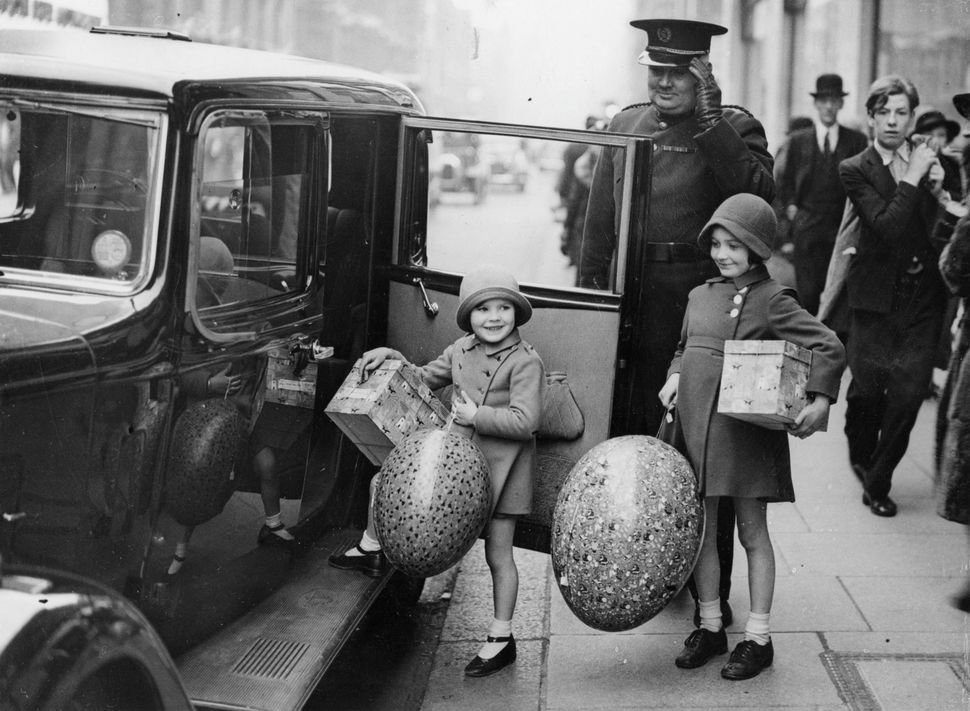 Easter shopping in London in 1936.