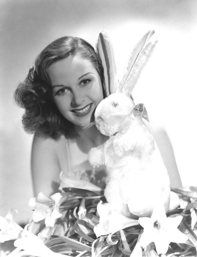 American actress Susan Hayward celebrating Easter.