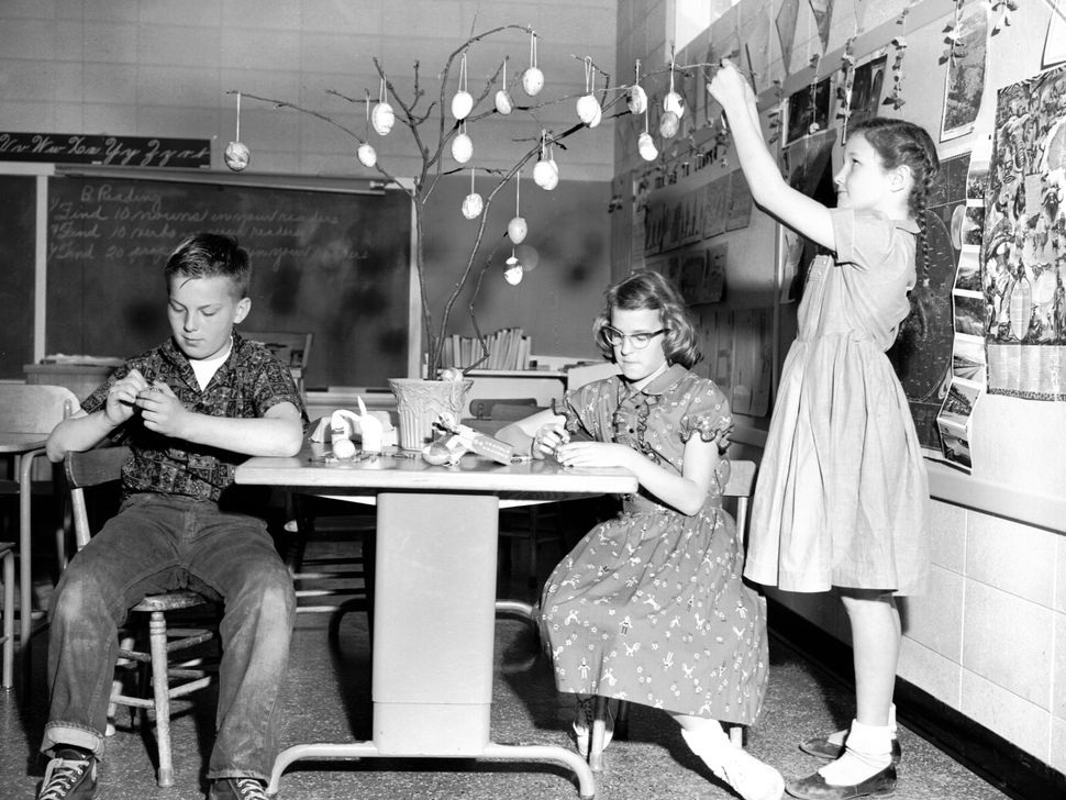 Easter trees were definitely a thing -- especially in the 1950s.