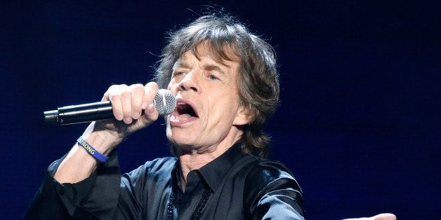 Mick Jagger of the Rolling Stones performs in concert at the TD Garden arena on Wednesday, June 12, 2013 in Boston. (Photo by