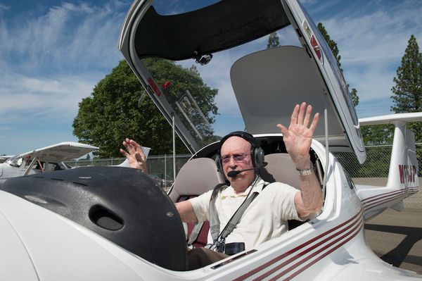Peter Weber Jr., a 95-year-old northern California man, is the world's oldest active pilot. Weber was 95 when he flew three l