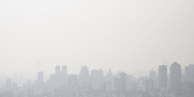 A general view taken from the north of Tehran shows the heavily polluted skyline of the capital on December 31, 2014. Almost