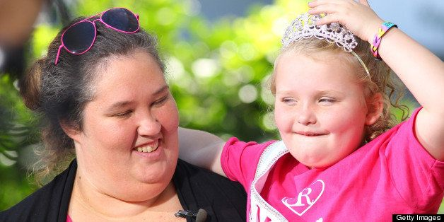LOS ANGELES, CA - OCTOBER 15: June Shannon and Alana Thompson 'Honey Boo Boo' are seen at The Grove on October 15, 2012 in Lo