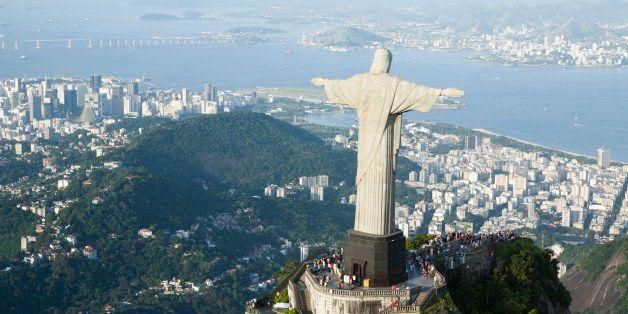 'aerial view; of Corcovado, Rio de Janeiro,BrazilBrazil'