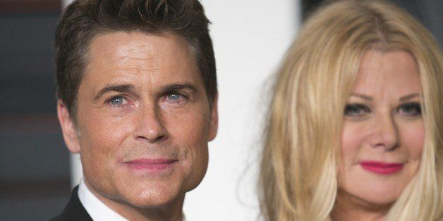 Rob Lowe and Sheryl Berkoff arrive to the 2015 Vanity Fair Oscar Party February 22, 2015 in Beverly Hills, California.