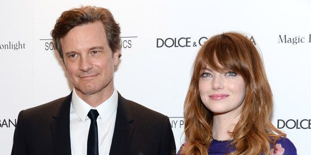 NEW YORK, NY - JULY 17:  Actors Colin Firth and Emma Stone attend the 'Magic In The Moonlight' premiere at the Paris Theater