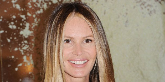 LONDON, UNITED KINGDOM - MAY 22: Elle Macpherson launches The Super Elixir at Selfridges on May 22, 2014 in London, England.