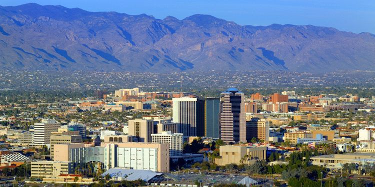 With low taxes and great weather, Tucson is located in the Sonoran Desert and is surrounded by various mountain ranges.