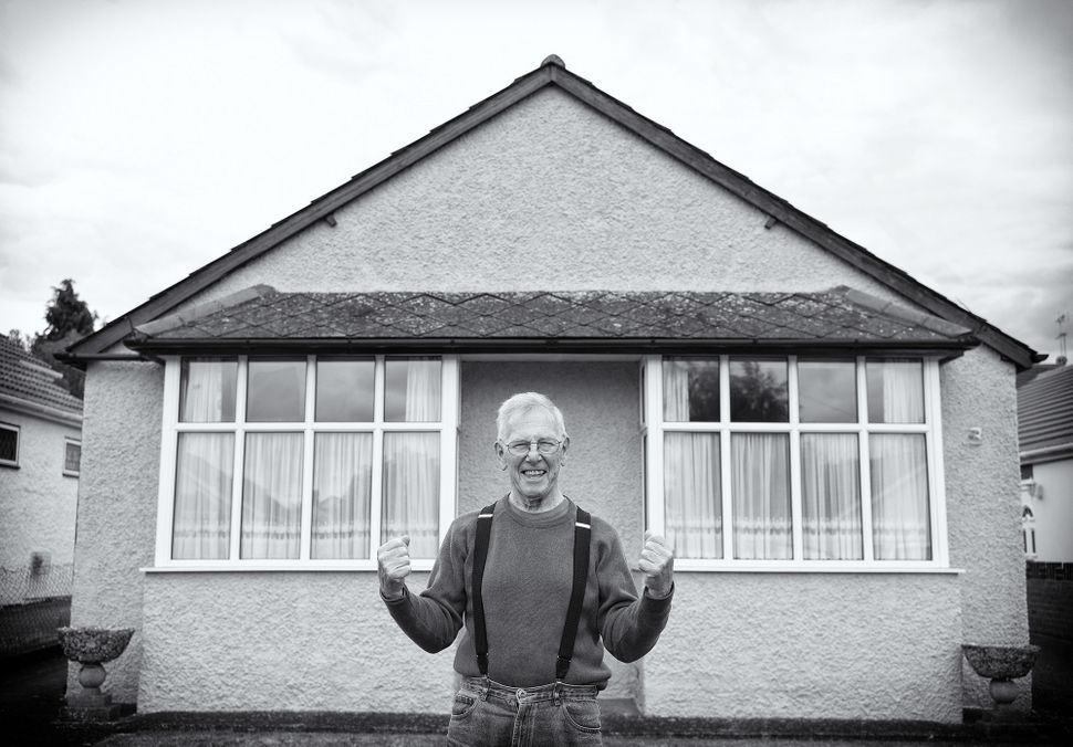 Ronnie in May 2011 outside his home in Burnham, Buckinghamshire, which was the year he was diagnosed.