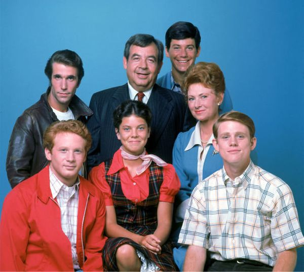 """The cast of """"Happy Days."""""""