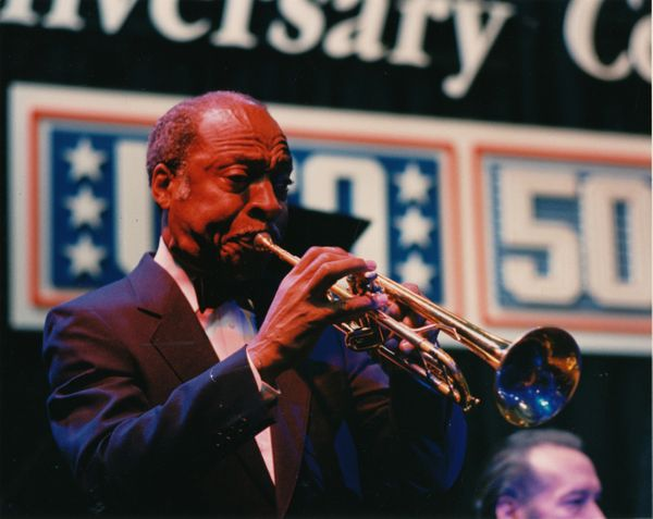 Legendary musician Louis Armstrong performed at the 1989 USO Gala.