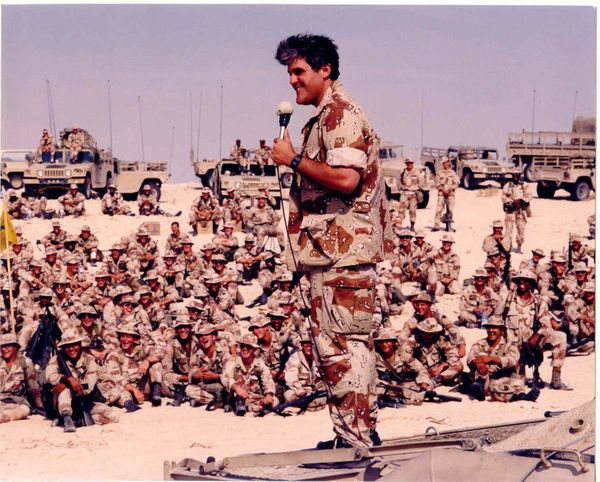In 1991, the USO opened three centers in Southwest Asia to support the Persian Gulf War. It was also the year that comedian J