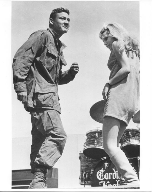 Nancy Sinatra finds the perfect dance partner when she traveled to Vietnam on a USO tour in 1967.