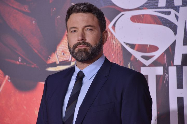 "Ben Affleck arrives at the ""Justice League"" Los Angeles premiere in 2017."