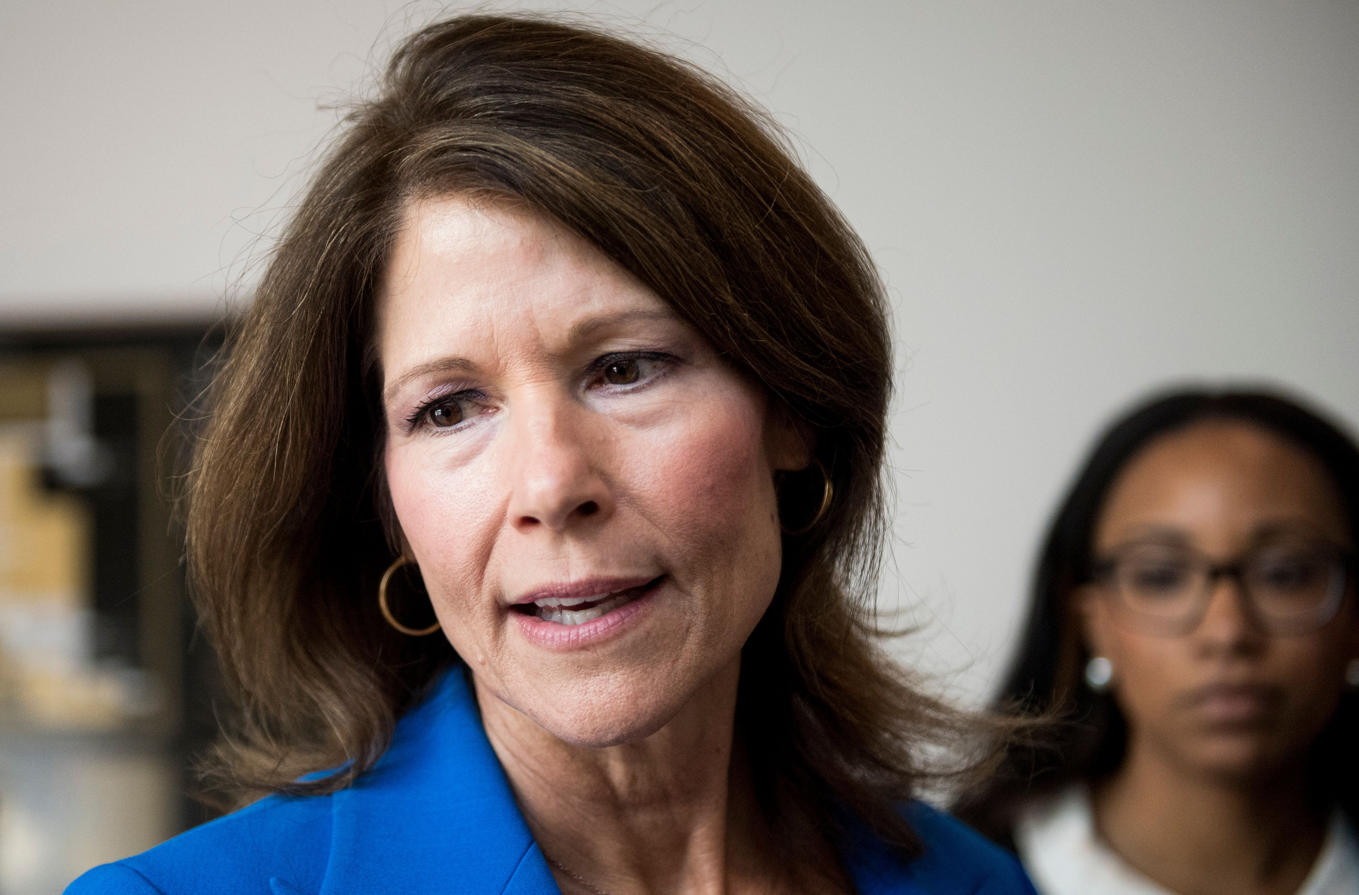 UNITED STATES - OCTOBER 4: Rep. Cheri Bustos, D-Ill., speaks with reporters in the Capitol on Thursday, Oct. 4, 2018. (Photo By Bill Clark/CQ Roll Call)