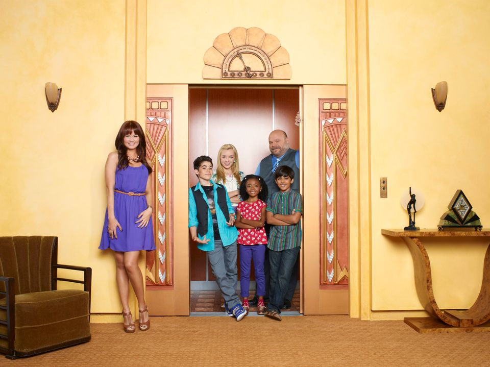 "Disney Channel's ""Jessie"" stars Debby Ryan as Jessie Prescott, Cameron Boyce as Luke Ross, Peyton List as Emma Ross, Skai Jac"