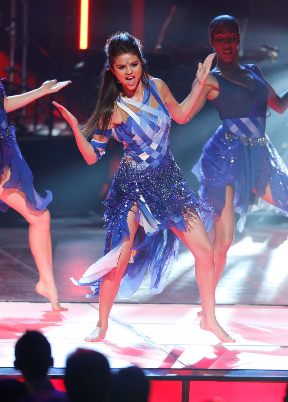 Selena Gomez performs during the Radio Disney Music Awards at the Nokia Theatre on Saturday, April 27, 2013 in Los Angeles. (