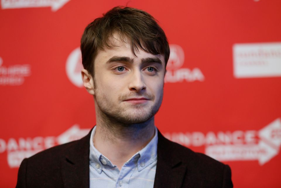 "File - Actor Daniel Radcliffe poses at the premiere of ""Kill Your Darlings"" during the 2013 Sundance Film Festival on Friday,"